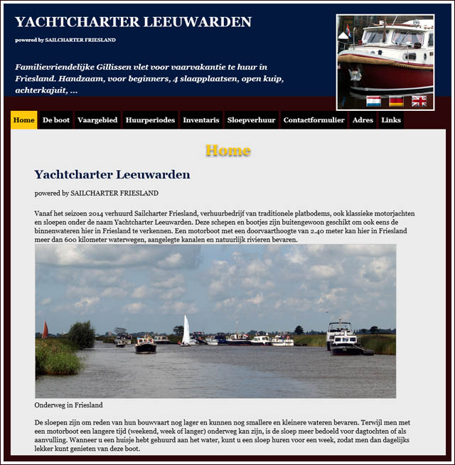 Website www.yachtcharterleeuwarden.nl is online